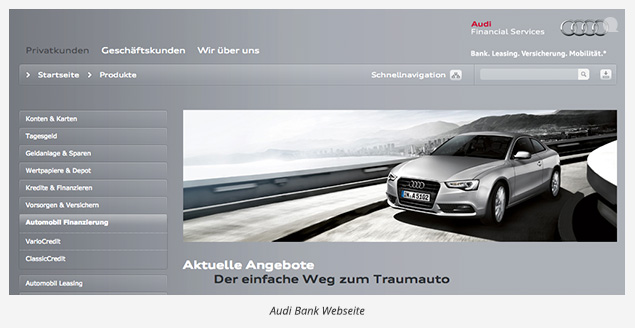 audi bank gebrauchtwagen finanzierung 2016 so geht s. Black Bedroom Furniture Sets. Home Design Ideas