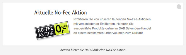 DAB Bank Depotwechsel Praemie No-Fee