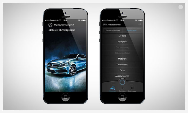 App f r android iphone der mercedes benz bank immer mobil for Mercedes benz apps