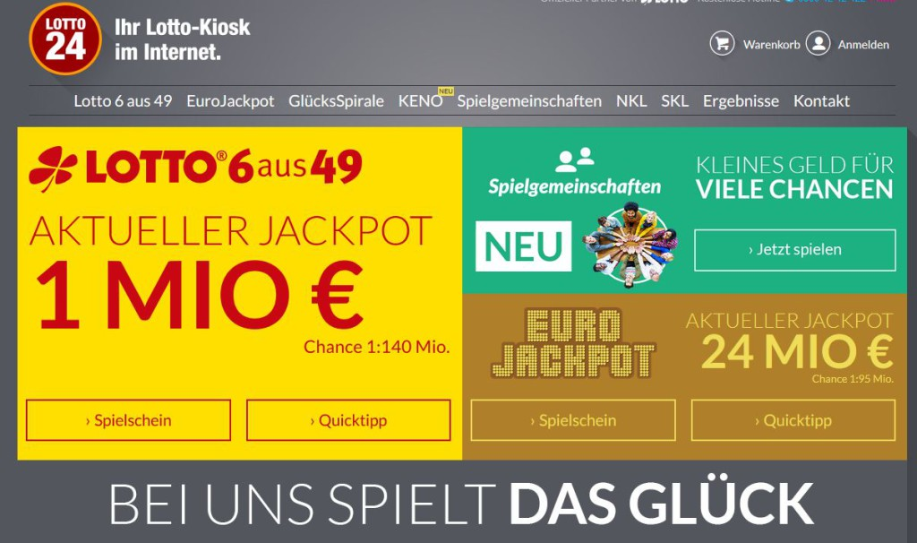 Jackpot knacken bei Lotto24.de