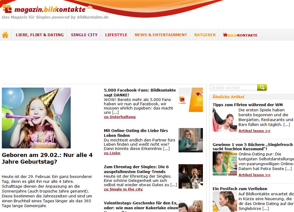 Online-Dating-Magazin-Artikel