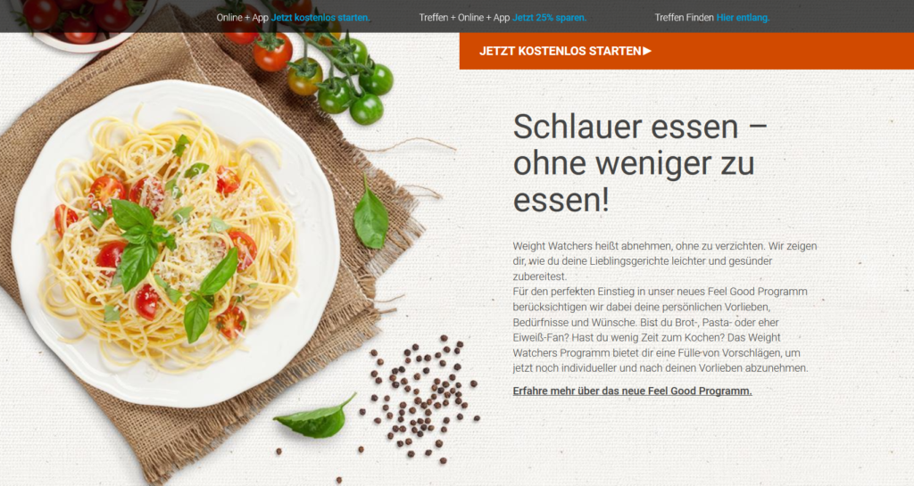 Informationen zum Feel Good Programm von Weight Watchers