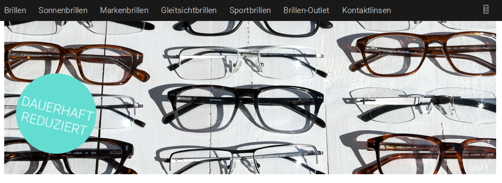 Outlet bei Brille24
