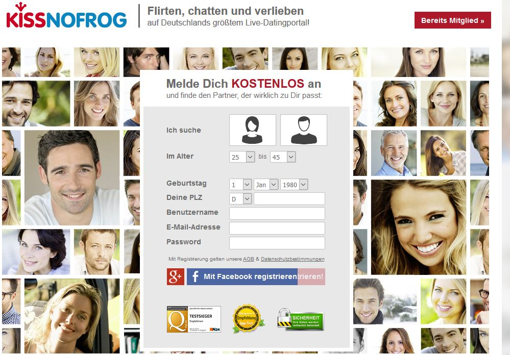 Live-Chats mit Singles.