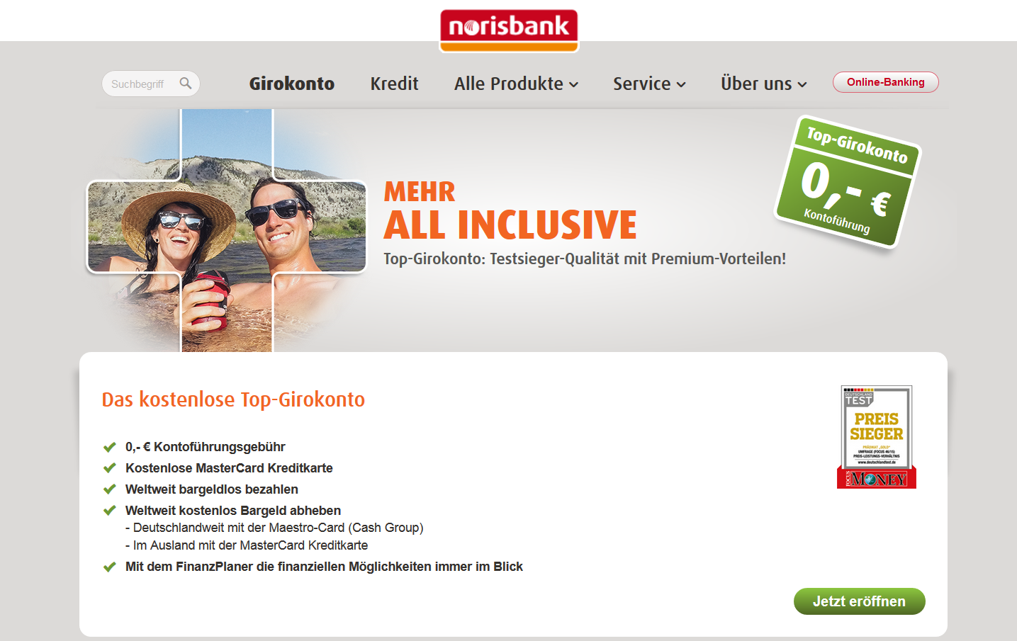 Top-Girokonto der Norisbank