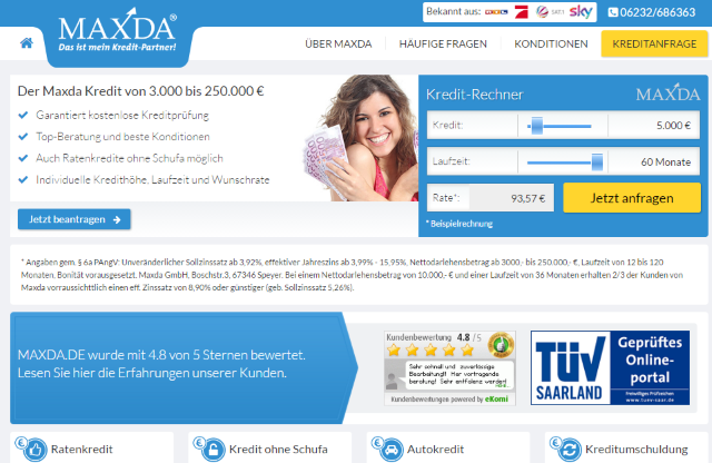 Maxda Website