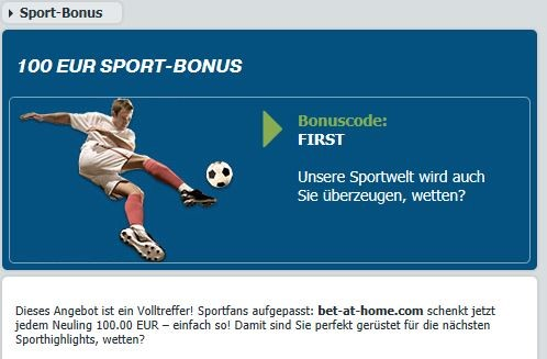 bet-at-home Willkommensbonus