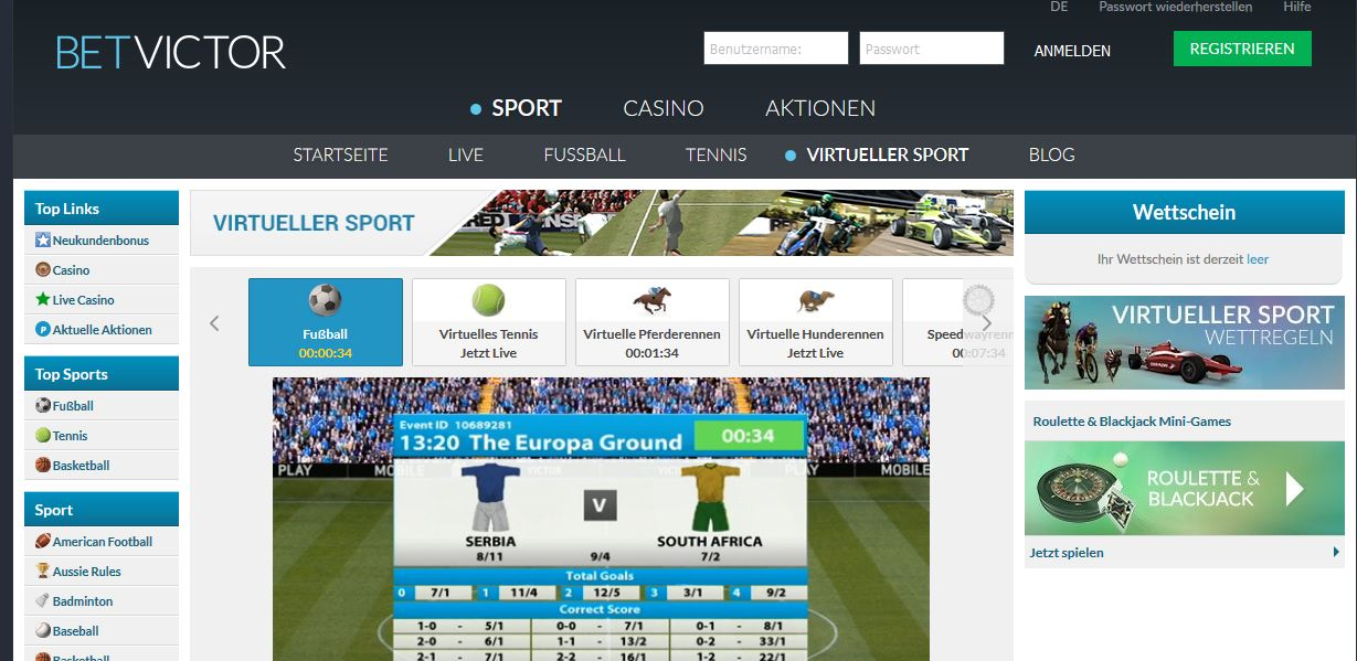 Betvictor sport
