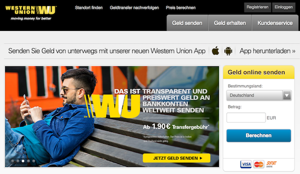 Western Union Homepage