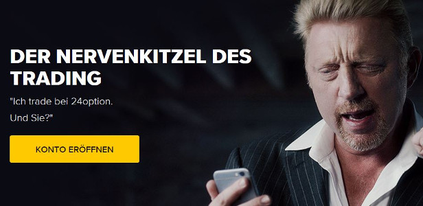 24option Werbung mit Boris Becker
