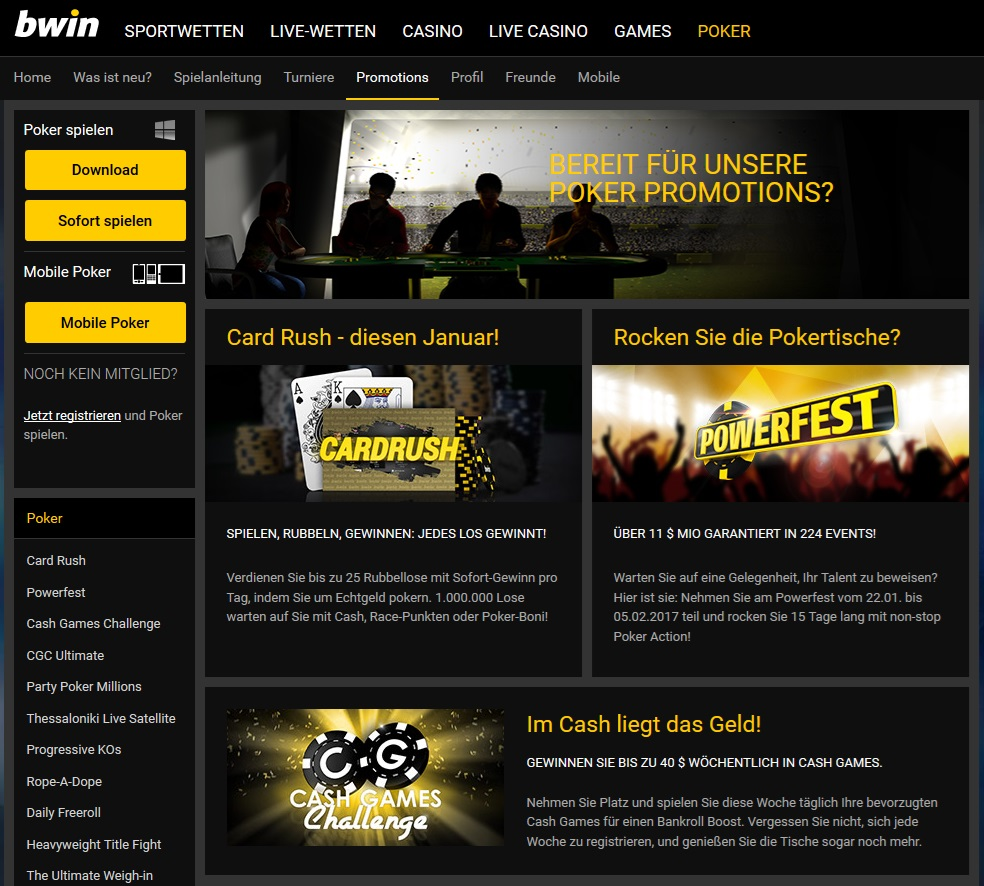 bwin poker turniere