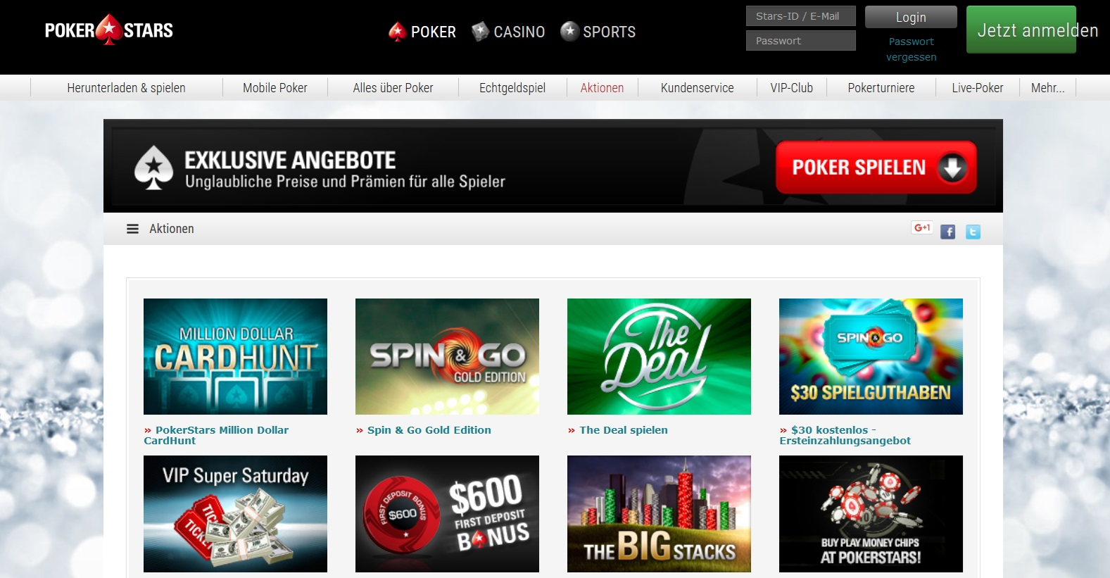Aktionen PokerStars Promotions