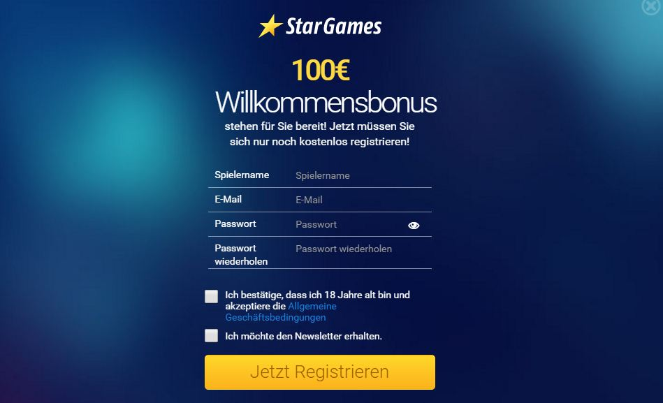 Stargames Gutschein September 2017