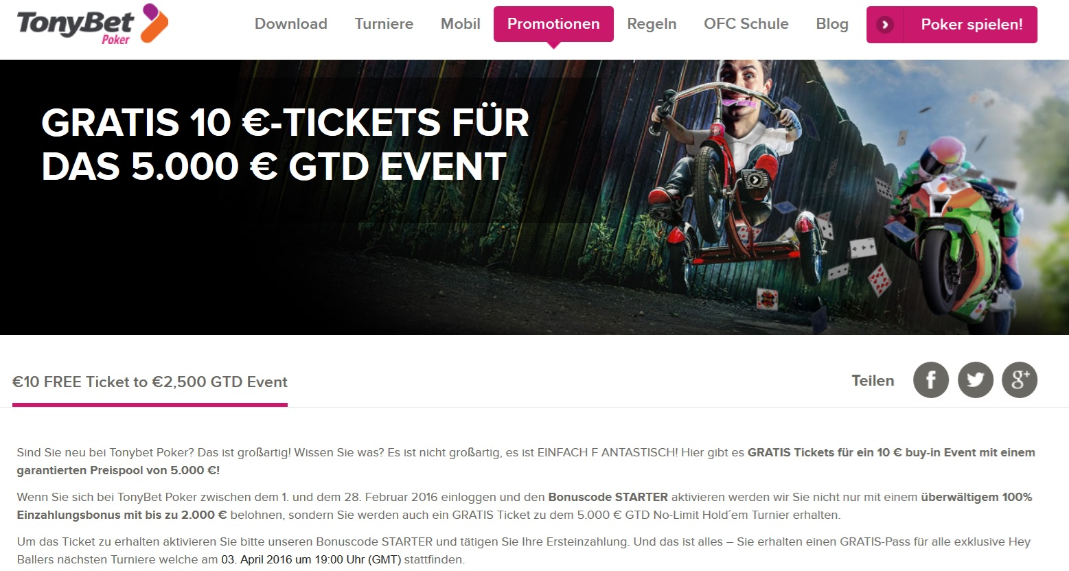 Tonybet Free Ticket Aktion Neukunden
