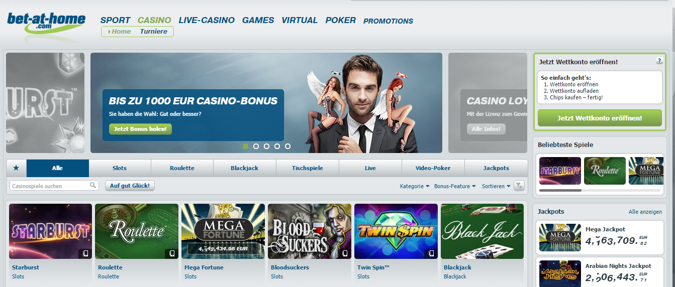 bet-at-home Casino NetEnt Spiele