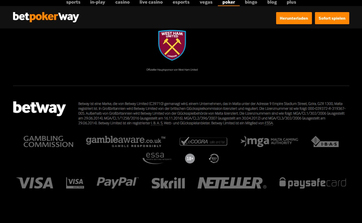 betway Poker Sicherheit