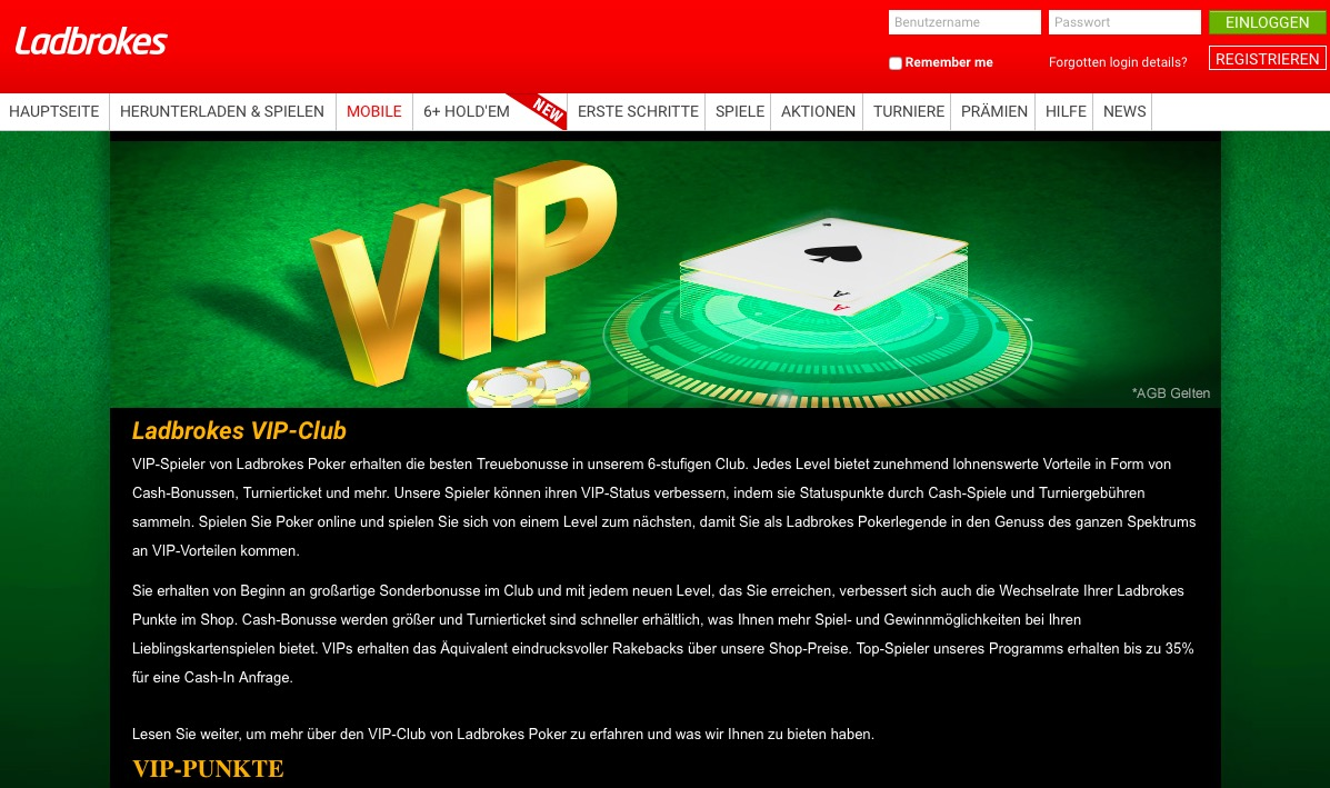 Ladbrokes Poker Promotionen