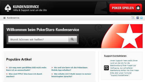deutscher Pokerstars Support