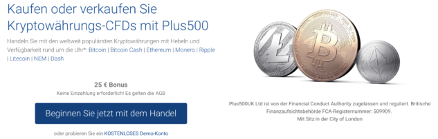 Kryptohandel bei Plus500