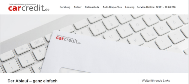 carcredit.de Checkliste