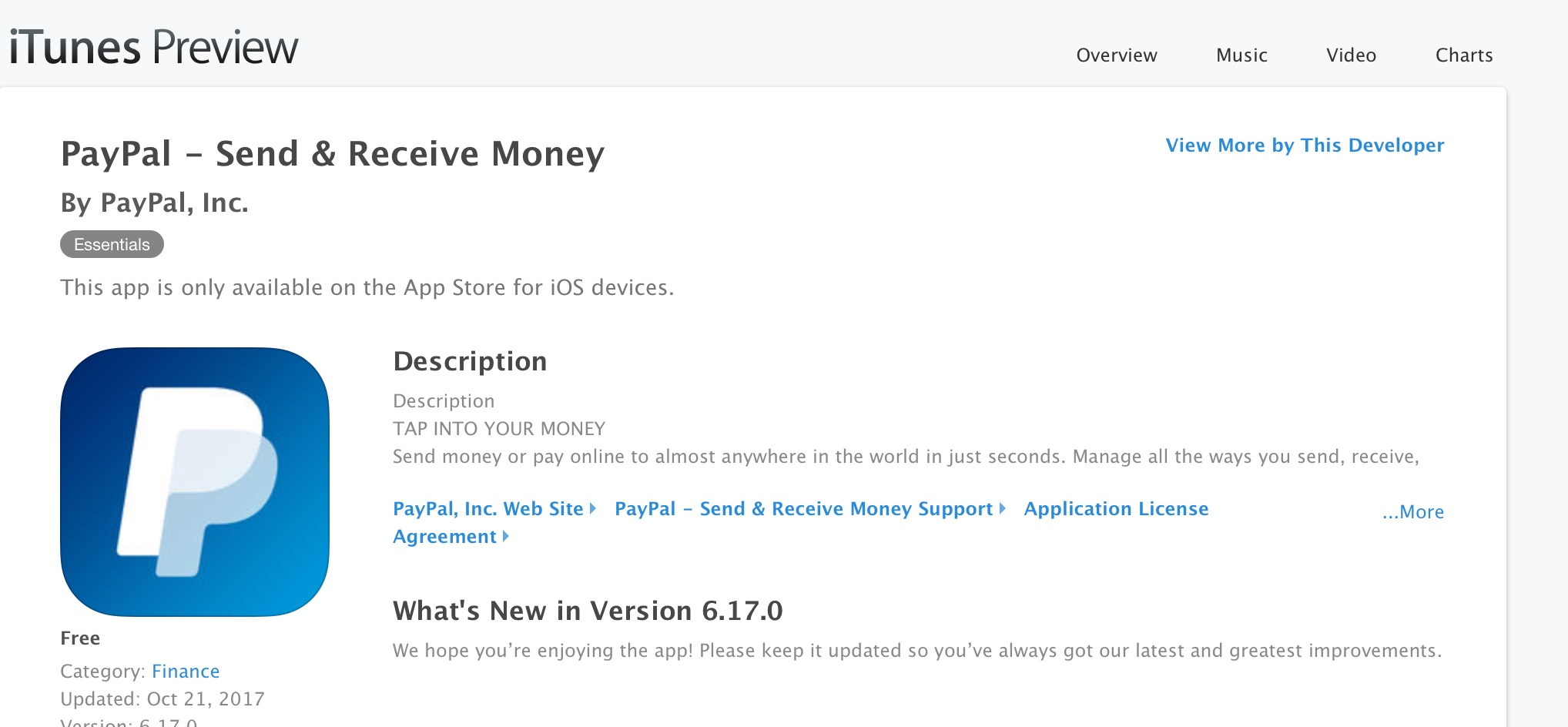 PayPal Mobile iOS App