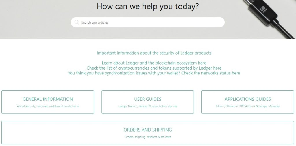 Der Ledger Support