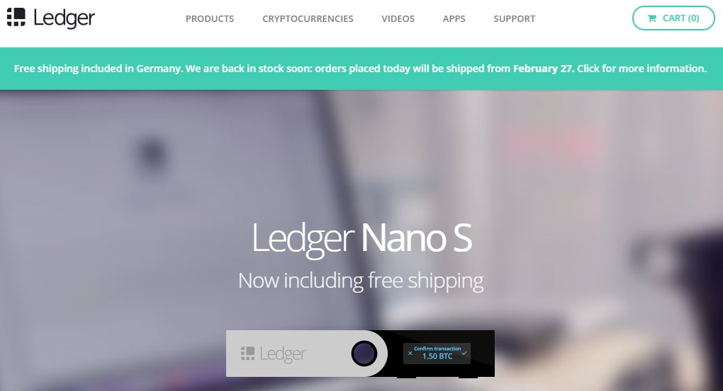 Ledger Offline Wallet Webseite