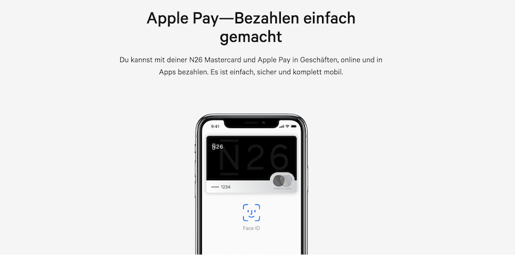 N26 Apple Pay